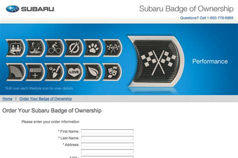 subaru loyalty program subaru merit badges let owners show their subie pride