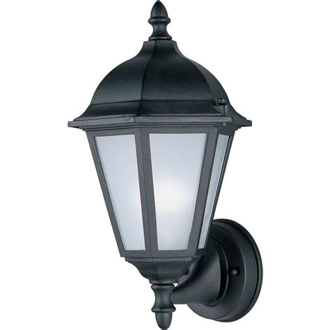 outdoor lighting wall mount black motion sensor costco led