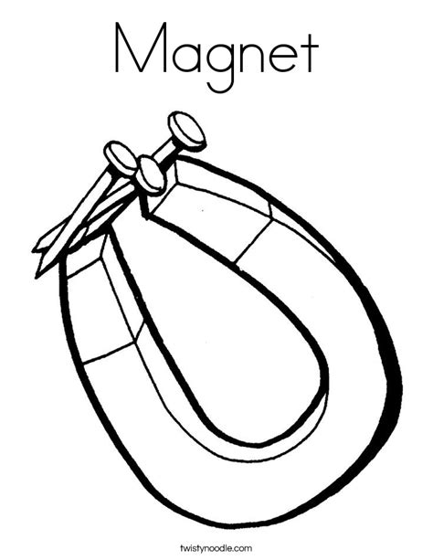 Magnet Coloring Pages magnet coloring page twisty noodle