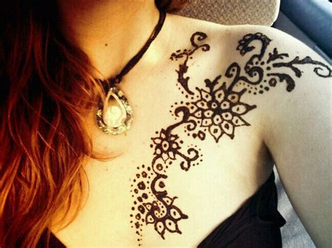henna tattoo designs for chest henna on chest and shoulder tattoos