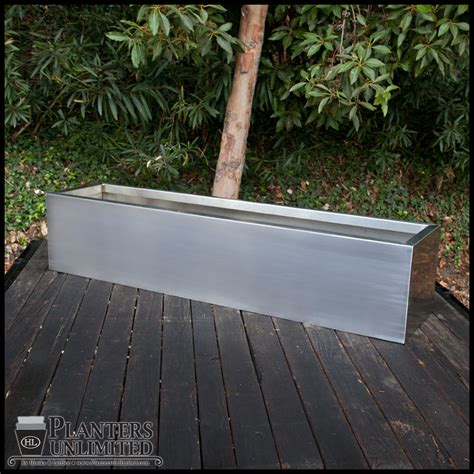 Steel Planter Boxes by Stainless Steel Planters Steel Planter Boxes Planters
