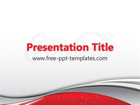 Coca Cola Ppt Template Coca Cola Powerpoint Template