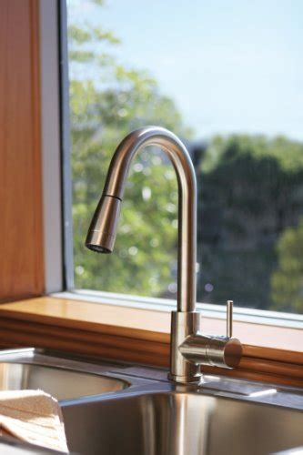 famous huntington brass kitchen faucet reviews top huntington brass 51180 72 pull down kitchen faucet satin