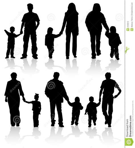 Pers Active Baby Xl 21 silhouettes des parents avec des enfants photographie