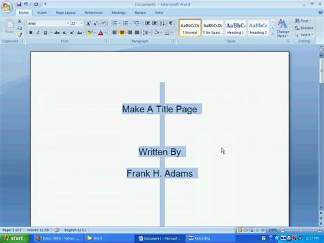 How To Make A Title Page For A Research Paper - word 112 a make a title page