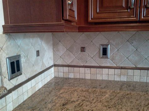 Kitchen Backsplashes With Granite Countertops by Custom Kitchen Backsplash Countertop And Flooring Tile
