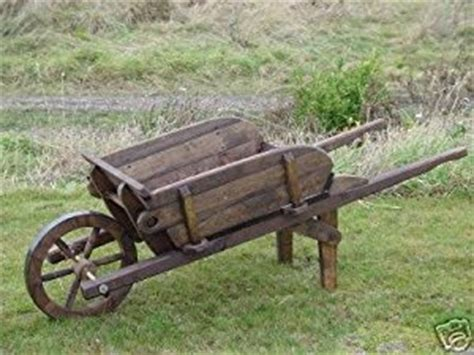 Rustic Wheelbarrow Planter by Large Rustic Wood Garden Working Wheelbarrow Planter