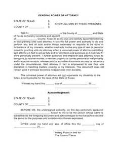 general power of attorney template free general financial power of attorney form