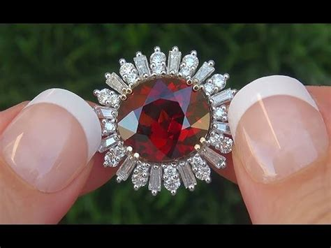 Hq Orange Garnet certified estate vvs1 unheated spessartite garnet