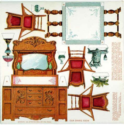 How To Make Paper Dollhouse Furniture - 5 best images of paper dollhouse furniture printables