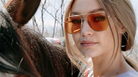gigi hadid collaborates with vogue eyewear for capsule