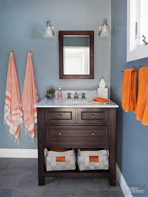 orange and brown bathroom accessories 25 best ideas about bathroom color schemes on pinterest small bathroom makeovers