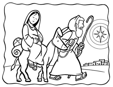 coloring pages mary and joseph bethlehem dibujos cat 243 licos san jos 233 y la virgen mar 237 a para colorear