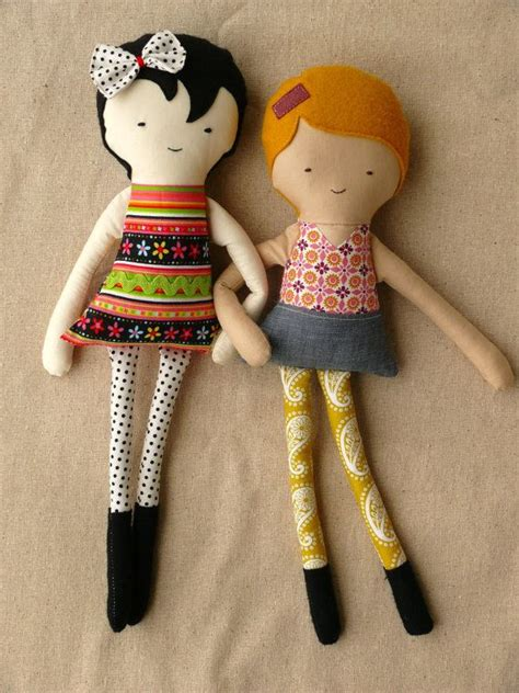 Handmade Fabric Dolls - handmade fabric dolls best friends
