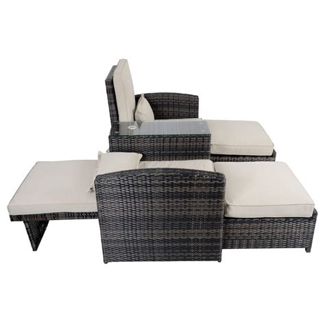 Rattan Reclining Chairs by Antigua Rattan Wicker Reclining Sun Lounger Companion Set