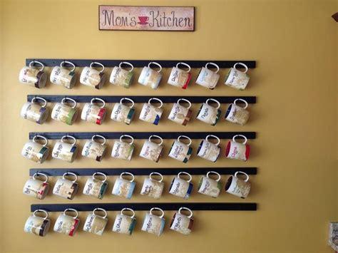 Mug Shelf Kitchen by Best 25 Coffee Mug Display Ideas On Mug Rack