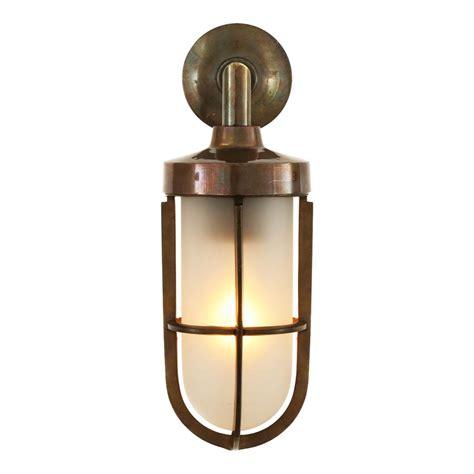 brass outdoor wall light cladach brass well glass wall light mullan lighting