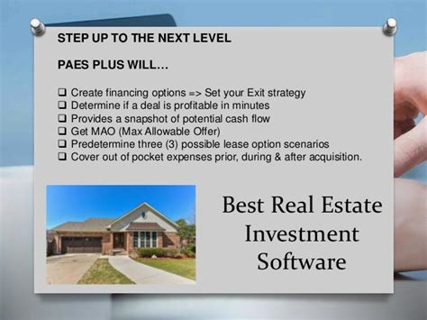 best real estate software best real estate investment software