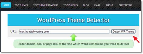 blog theme detector find out what wordpress theme plugins a site is using