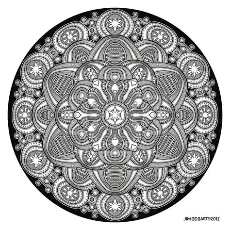 the mandala coloring book by jim gogarty mandala drawing 42 drawing