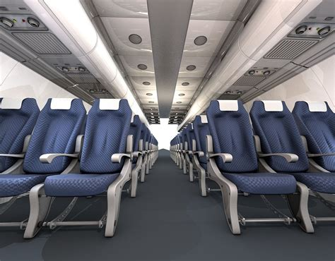 airplane interior 3d model obj 3ds c4d cgtrader