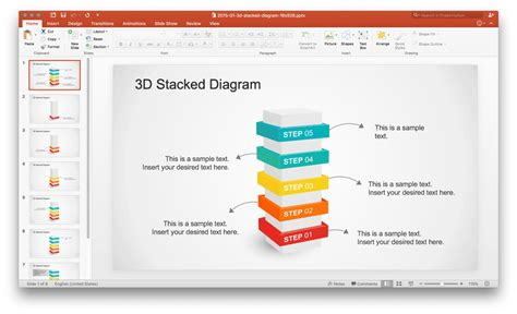 stacked diagrams for powerpoint stacked diagram powerpoint template teckfly