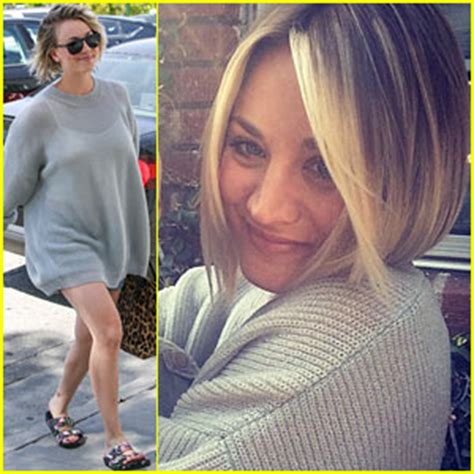 why did kaley cuoco cut her hair off kaley cuoco cuts her hair short debuts blonder bob hairdo