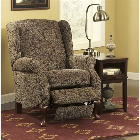 ashley high leg recliner ashley nadior fabric high leg recliner in paisley 2800326