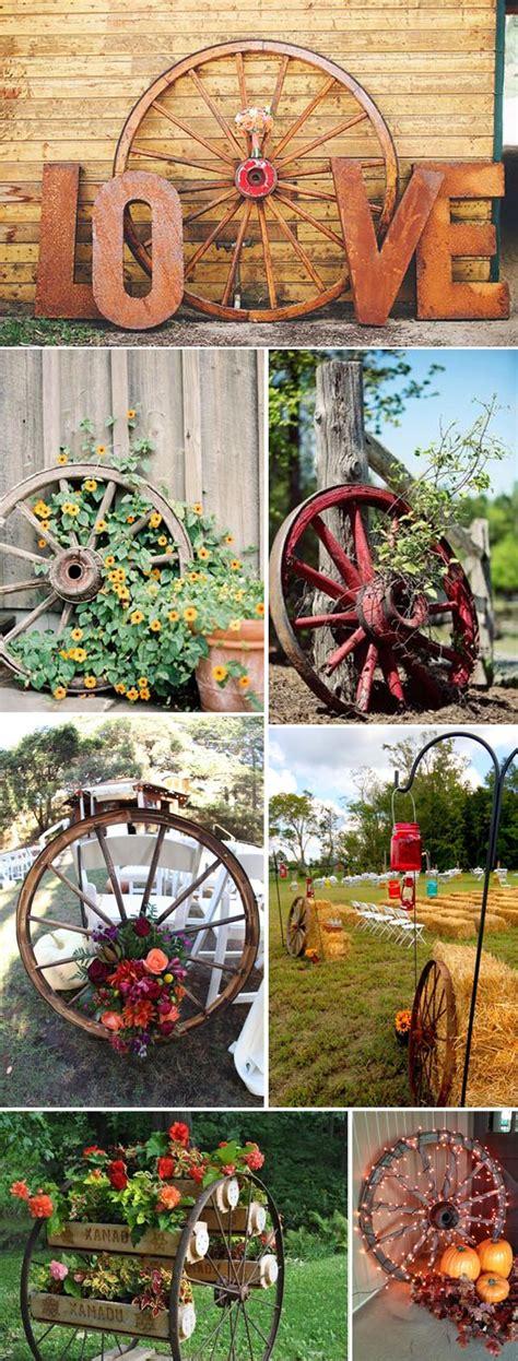rustic decorating ideas creative rustic wagon wheel wedding decoration ideas