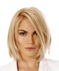 hair style of meg in the the short straight casual bob hairstyle light blonde