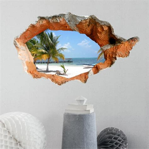 3d wall decals 38 inch removable sea wall