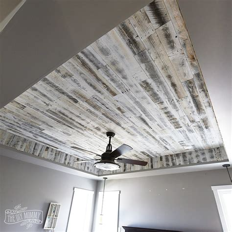 how to install a rustic wood ceiling with stikwood one