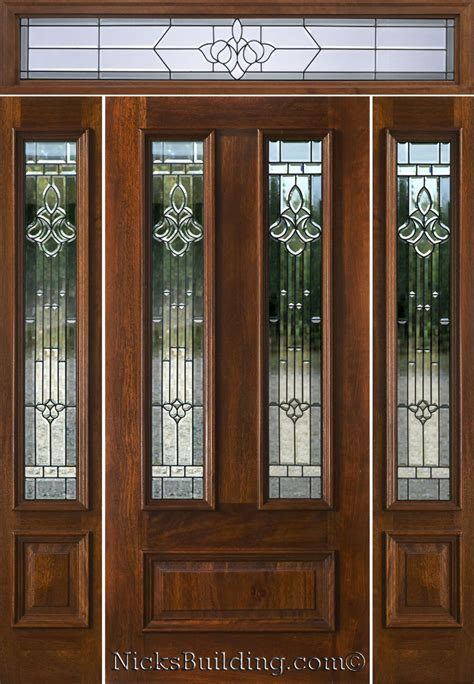 Exterior Door Sidelights Mahogany Exterior Doors With Sidelights And Transoms 68