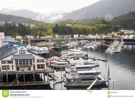 largest fishing boat in alaska large harbor in alaska royalty free stock images image
