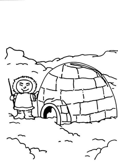 eskimo igloo coloring page 1 references for coloring pages part 5
