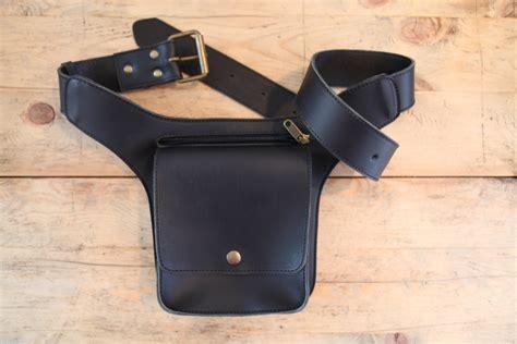 black leather pack mens leather belt bag leather