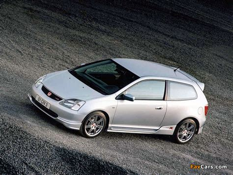 honda civic type r uk spec ep3 2001 03 wallpapers 640x480