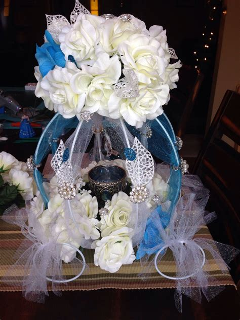 cinderella quince table centerpiece my quincea 241 era