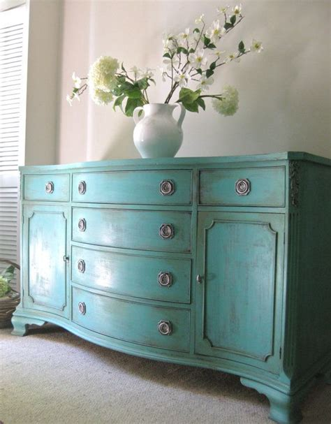 distressed blue buffet table designer tables reference