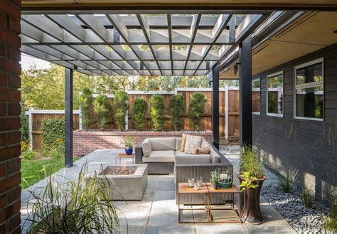Modern Patio With Exterior Stone Floors By Design Platform Contemporary Patio Designs
