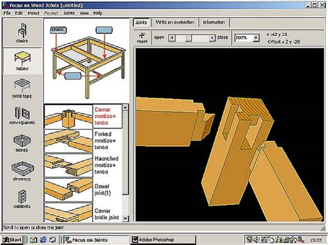 woodworking design software woodwork wood project design software pdf plans