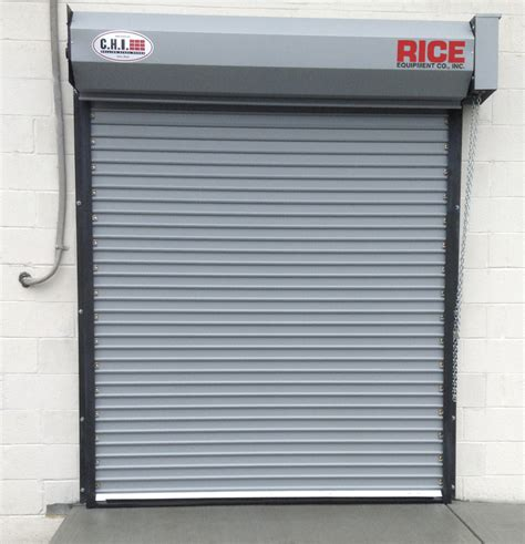 Rolling Steel Doors Rice Equipment Co Loading Dock Overhead Roll Up Door