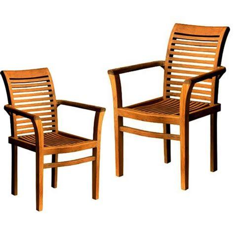 fauteuils de jardin raja empilables vendu par 2 en