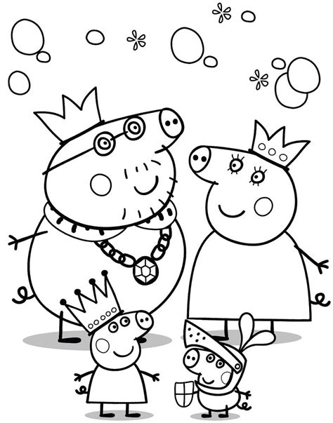 Peppa Pig Coloring Page free coloring pages of peppa pigs