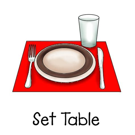 setting the table kid set table clipart clipartsgram com
