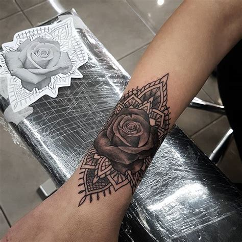 mandala cuff tattoo on instagram