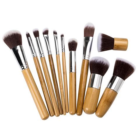 aliexpress makeup aliexpress com buy 11pcs bamboo makeup brush set