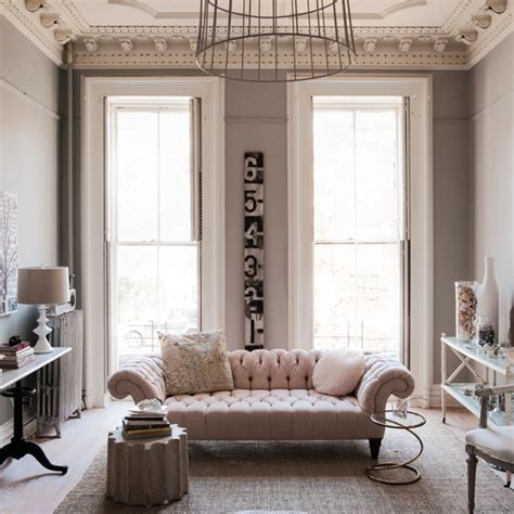 pale pink living room pale pink and muted grey living room living room decorating ideas ideal home