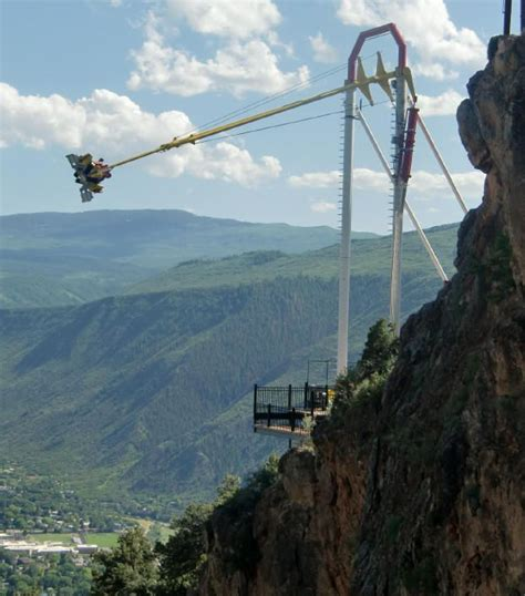glenwood caverns adventure park swing colorado summer family vacation whitewater rafting