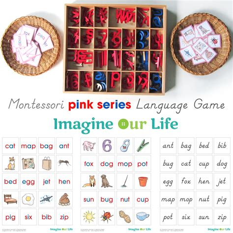 printable montessori language materials montessori cvc word match printables imagine our life